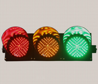 Traffic warning red and green LED signal lights driving school teaching