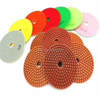 4 inch B grade diamond wet polishing pads for marble and granite