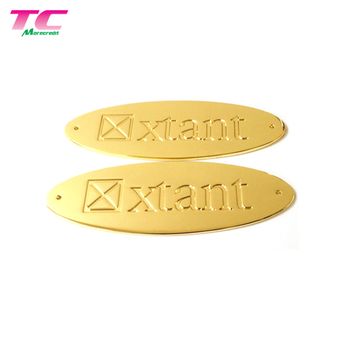 Oval Shape Metal Label Sticker Logo Strong Adhesive Decal Thin Metal Sticker