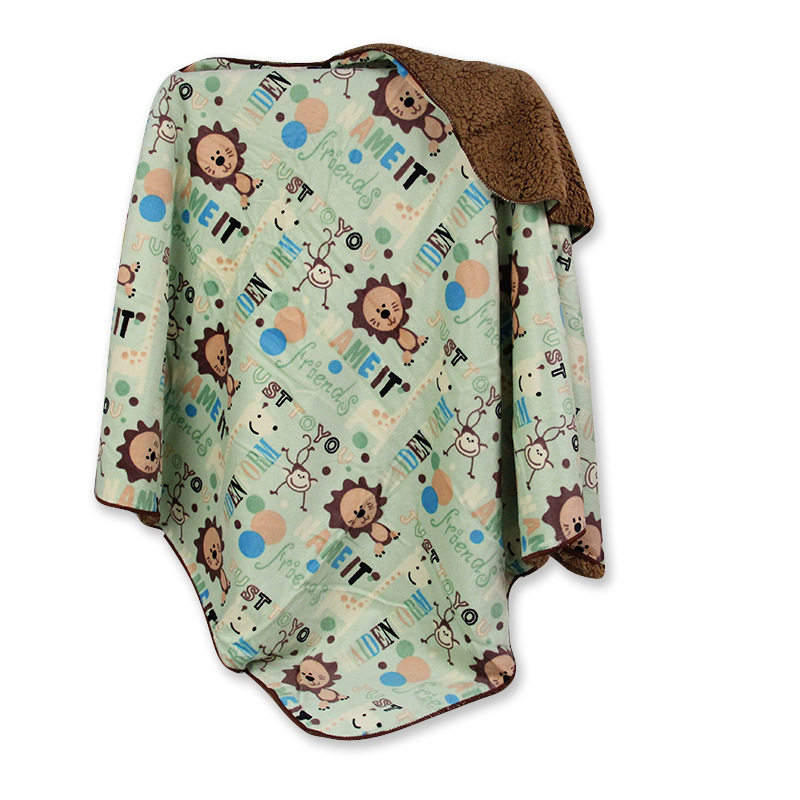 Hot selling fashion professional 100% polyester fleece blanket