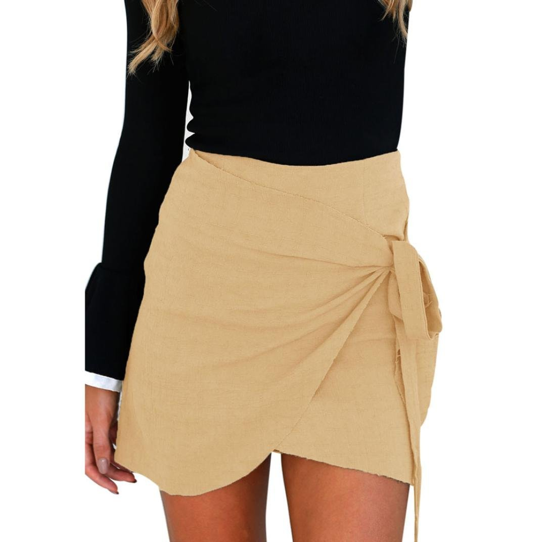 871d1d175c Get Quotations · Hemlock Women Short Bodycon Skirt Ladies Strap Office Skirt  (S, Khaki)