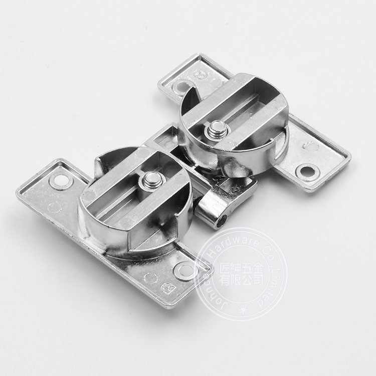 Opening angle 180 degree folding door hinge with offset for 180 degree hinge door