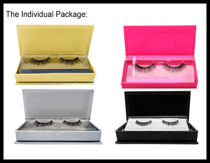 Customized clear thread mink strip false eyelashes