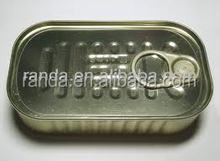 125g #311 Square empty sardine tin cans with easy open end