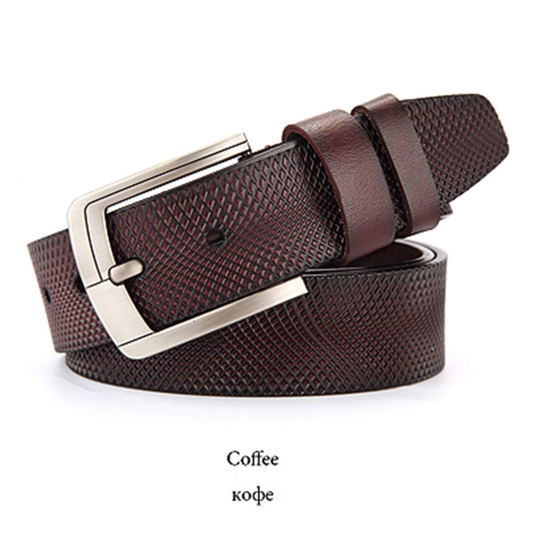 Chiffoned Cow Leather Belt Men Male Genuine Leather Strap Belts For Men  Buckle Fancy Vintage Jeans 06b8f7ddeea