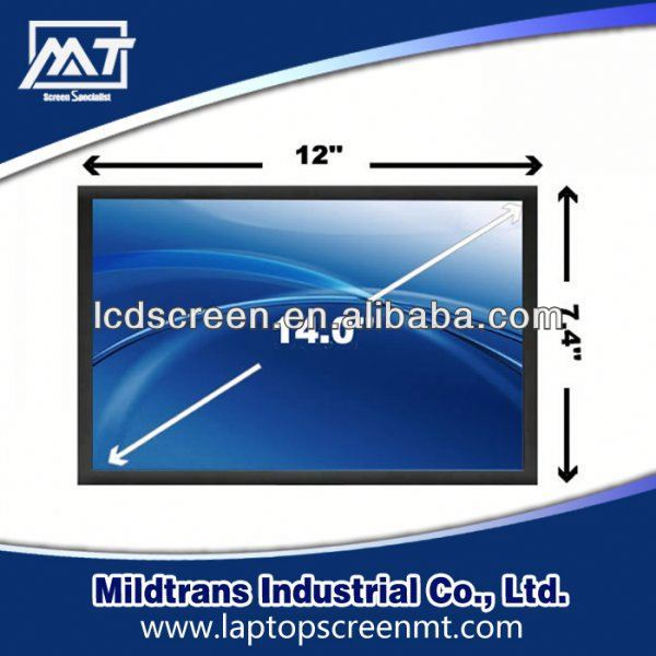 100% original Laptop LED/LCD screen N140B6-L08 laptop screens for sony