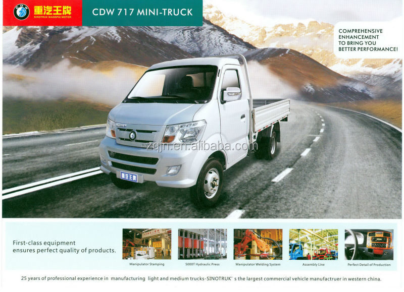 High Quality Low Price 1-15tons 4wd mini delivery truck
