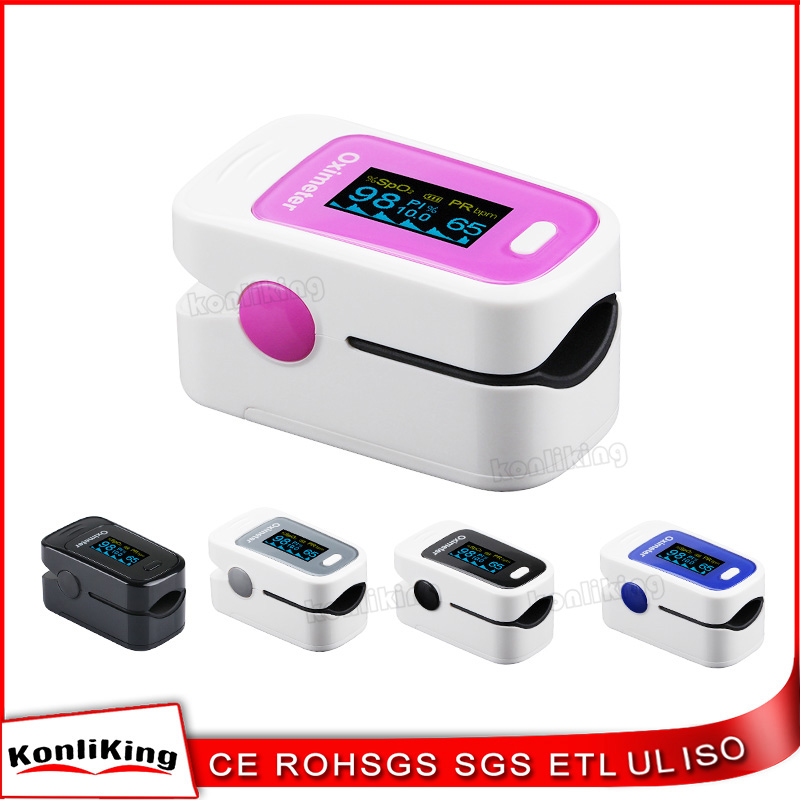 Easy Operated Fingertip Pulse Oximeter Electronic Digital oxygen and heart rate finger monitor