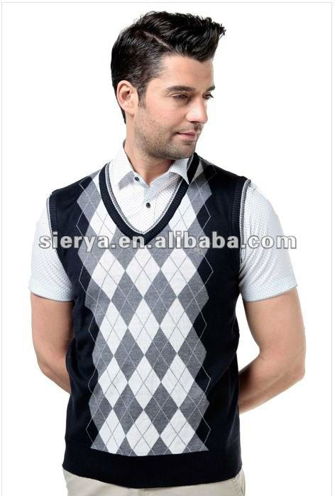Sleeveless Argyle Sweater Vest For Men, Sleeveless Argyle Sweater ...