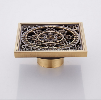 Brass Floor Drain with Removable Bronze Drain Cover