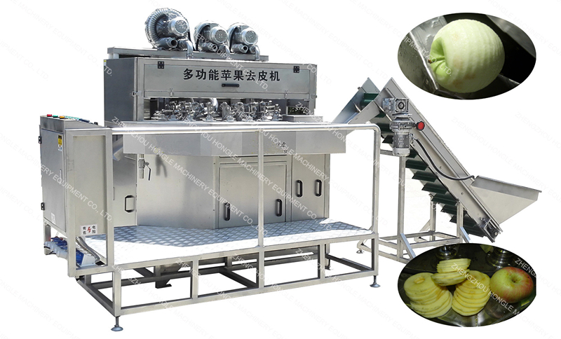 Factory Price Dry Fruit Apple Round Cleaning and Peeling Slicer Production Line