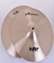 "100% Handmade Chinês Cymbals, <span class=keywords><strong>B20</strong></span> Metal, Assassino em série 13 ""Hihat Cymbal set, Percussão Musical Instrumensts"