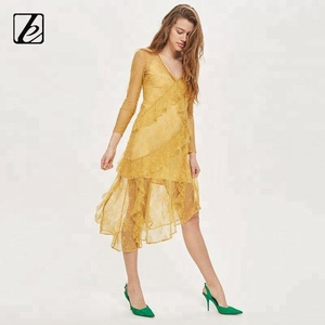68a4acd6f4e6b sexy indian girl in transparent yellow lace dress