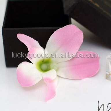 wholesale pink fashionable fabric orchid flower head