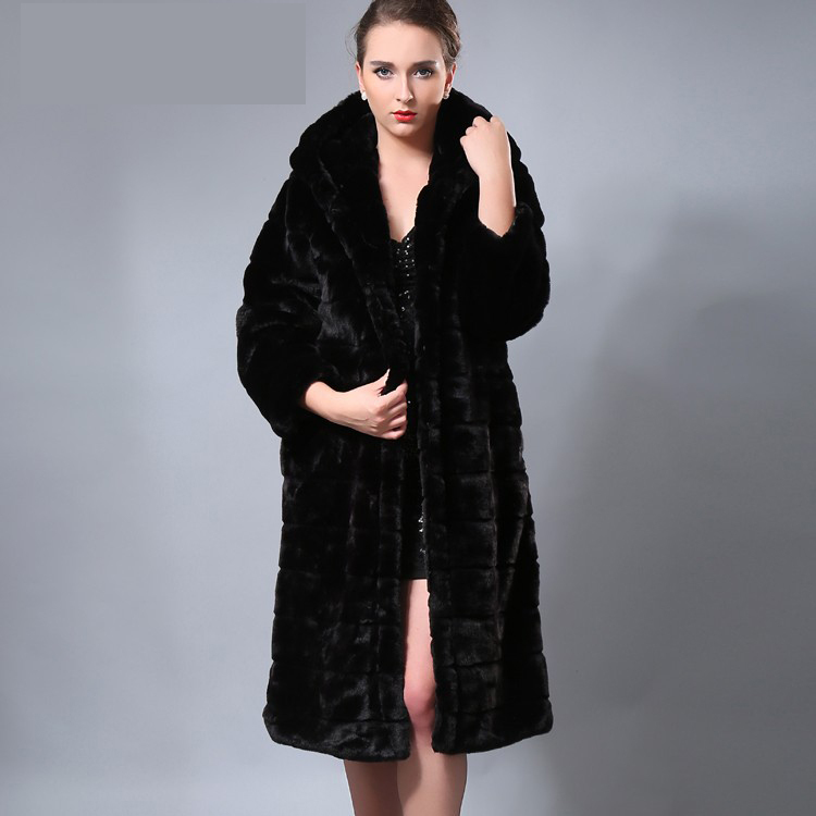 4227ad1cf9 Black Long Faux Fur Coat - JacketIn