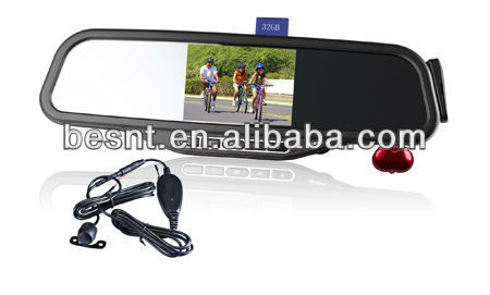 Top 10 besnt Car Rearview Parking System With 32G SD/MMC card and U-Disk support MP3 play BS-HS01B