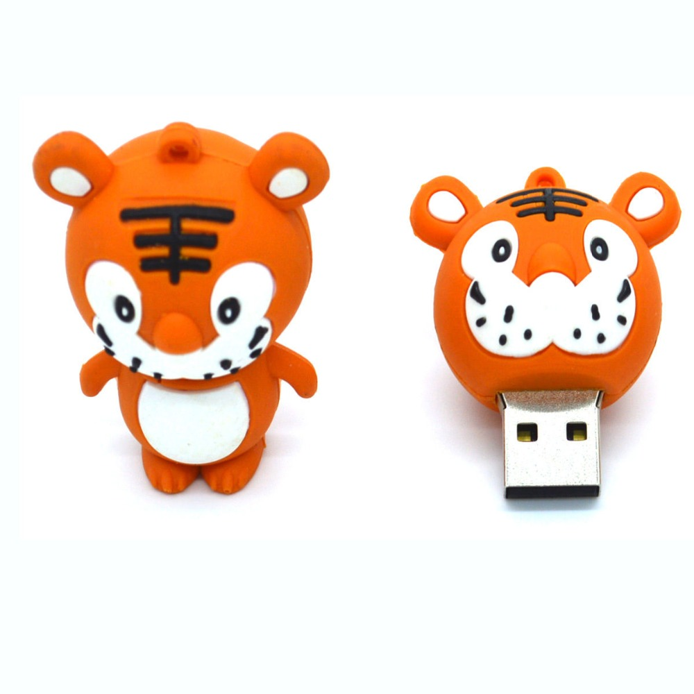 8 16 32 GB G USB 2.0 Cartoon Tiger Flash Memory Stick Drive Pen U Disk