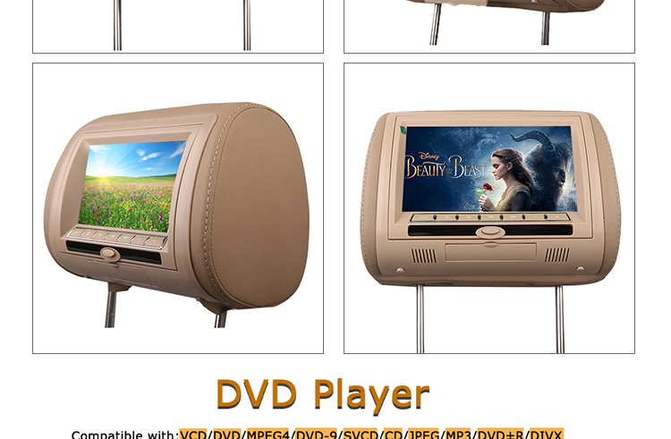 9-inch rear seat game monitor android portable headrest dvd