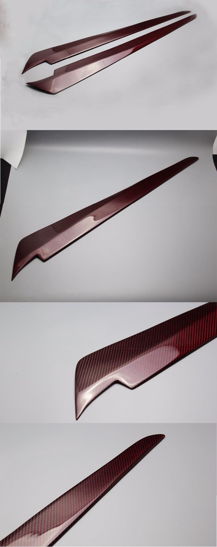 Toyota hiace kdh 200 2005 16 carbon fiber window front door garnish knife strip cover