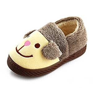 Cute cartoon puppy dog Slippers child Slippers Autumn and winter thick home warm cotton slippers /plush kid slippers /Anti-skid Home House Slippers Fashion Travel kid gift Slippers /Slippers