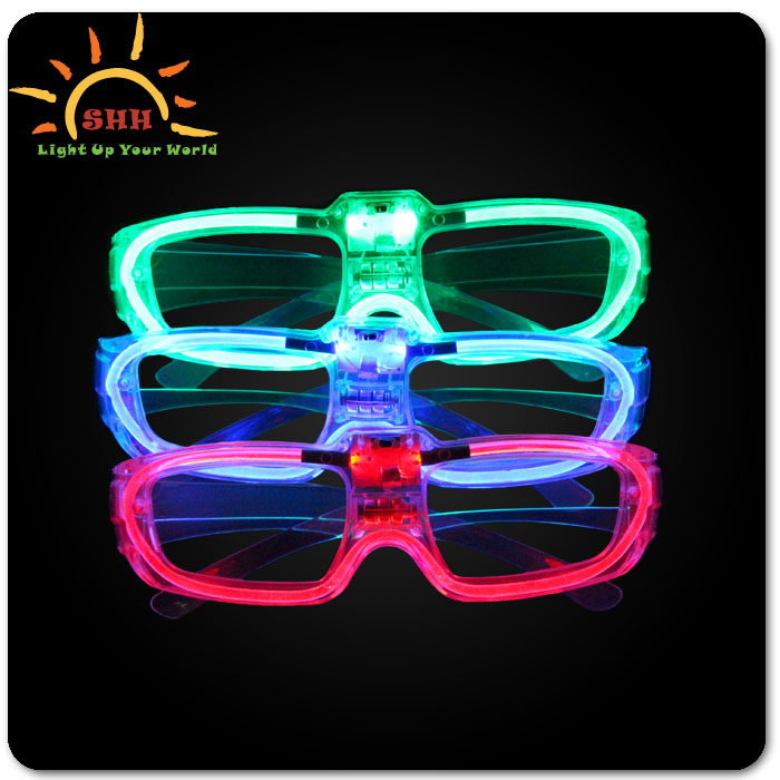 China supplies 2015 new products flashing led EL wire sound activated sunglasses wholesale