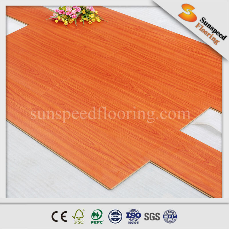 8mm OEM high quality waterproof parquet laminated flooring in door used