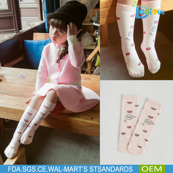 High Quality Baby Knee High Cartoon Socks Kids Cotton Knee High Tube