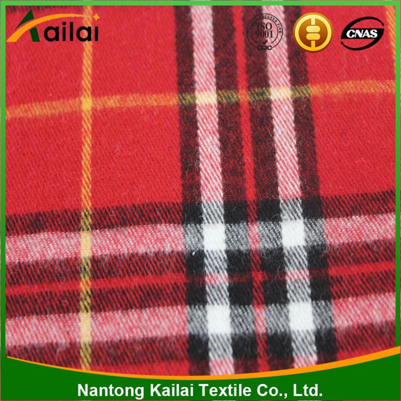 Popular new style cheap yarn dyed 100% wholesale cotton flannel fabric
