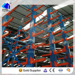 Jracking top selling heavy duty warehouse storage and powder coated double-armed cantilevered shelving
