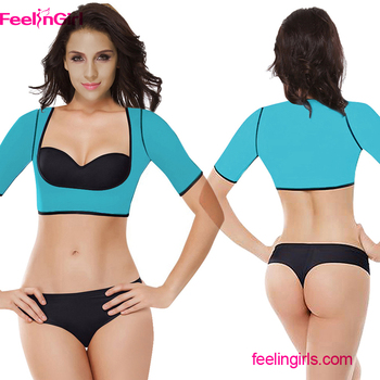 a3950c0deb7c3 Cheap Blue Neoprene Breast Body Shaper Bra Neoprene Slimming Vest For Women
