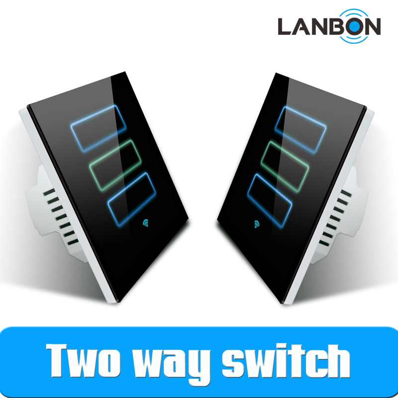 Lanbon Smart Home Automation 2 Way Mutual Control Wifi Smart Touch ...
