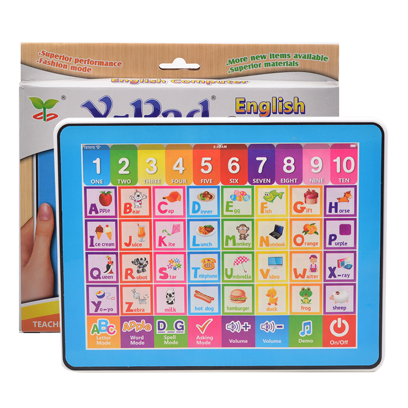 Funny OEM English toy intellective children learning computer