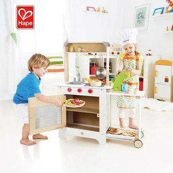 Hape Classic Pretend Cooking Toddler Play Set Kids Wooden Kitchen Toys For Girls