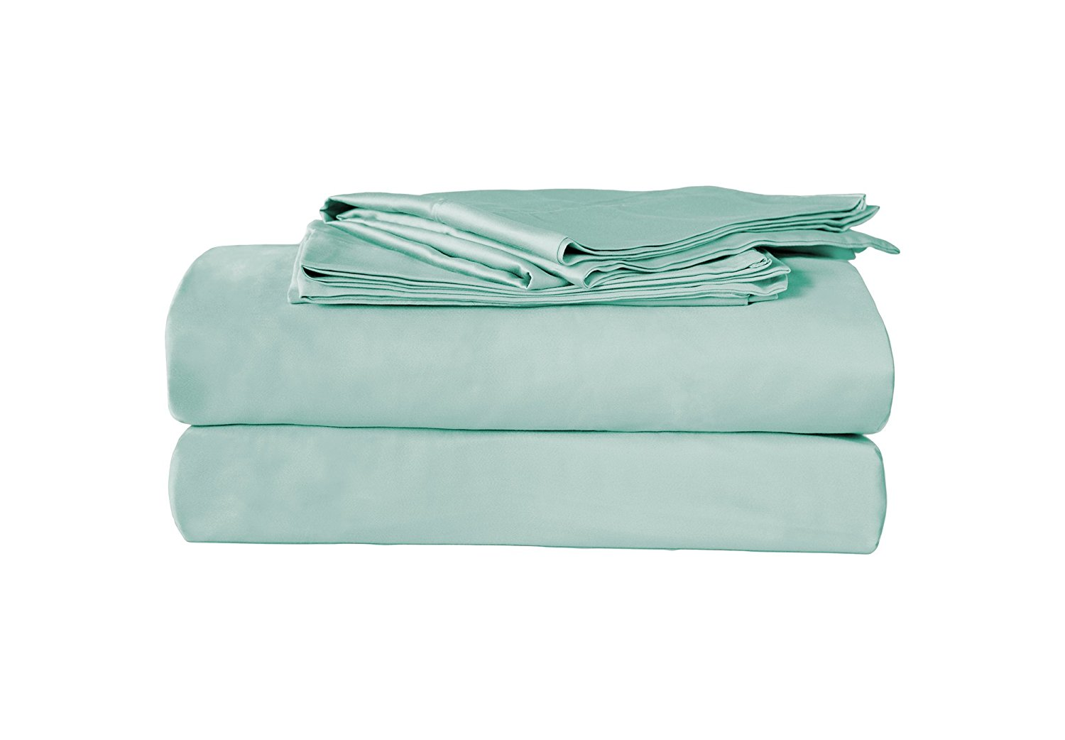 Alok International 300-110038 300 Thread Count Organic Cotton Sheet Set, King, Light Blue
