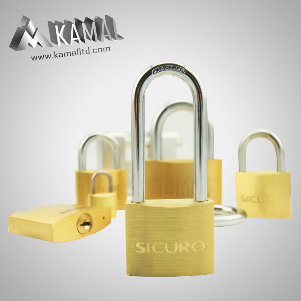 European type Solid brass padlock/S keyway keys/Gate Door