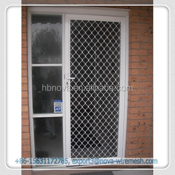 Attirant China Diamond Security Grilles / Stainless Steel Door With Aluminium Grill