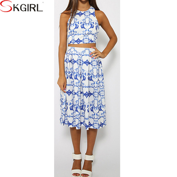 High Quality Elegant Women Design Crop Top And High Waist Pleated Skirt 2pcs Set Midi Dress Buy Crop Top And High Waist Skirt Crop Top And Skirt