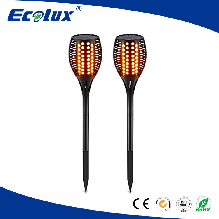 best quality LED solar torch lights waterproof flickering flames torches lights outdoor landscape decoration lighting
