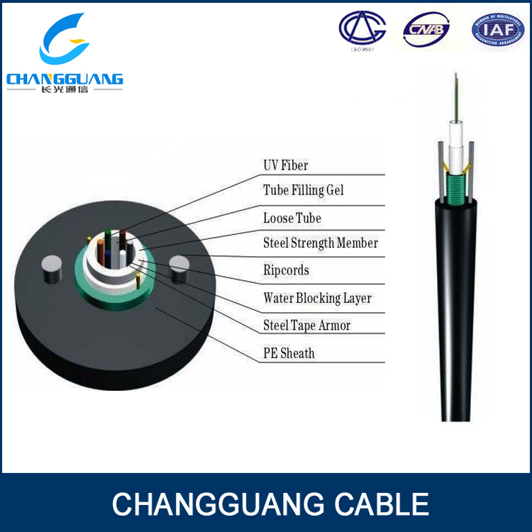hot sale 6 core single mode fiber optic cable GYXTW/ADSS/GYTA53 made in China