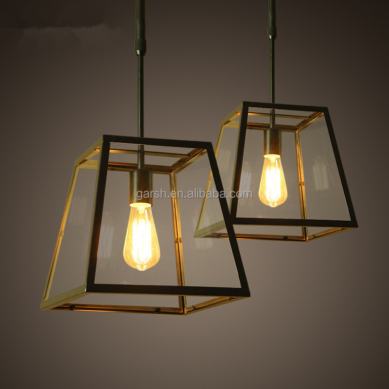 Antique Glass Filament Bulb Chandeliers Pendant Lights Light On