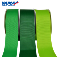 Yama factory polyester solid color 3 inch wide 75mm grosgrain ribbon