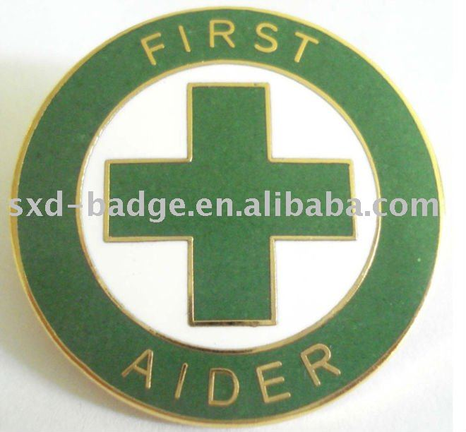 First Aider Metal Lapel Pins