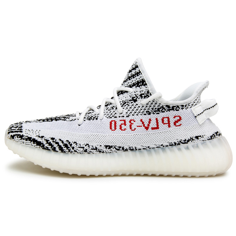 No Logo (high) 저 (quality men 패션) 저 (Low) sneakers 카니 예 웨스트 (kanye west) Yeezys 350 V2 Zebra BLUE 색조 casual shoes walking shoes size 36-46