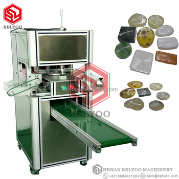 New model stretch film soap wrap packing machine/soap plastic film packaging machine/hotel soap wrapper