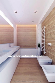 Pure Acrylic Solid Surface Corian Bathroom Vanity Cabinets
