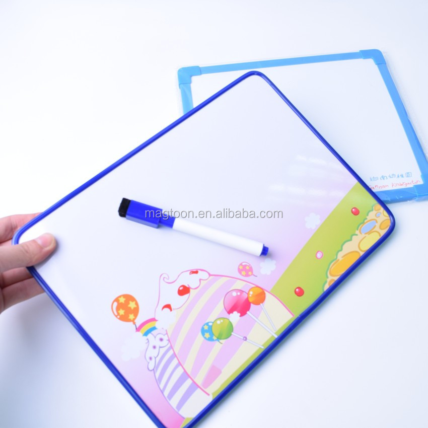 dongguan factory supply erasable magnetic writing board for kids with a pen