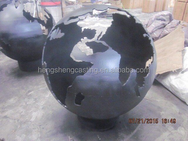 garden metal sphere fire bowl steel fire pit bowl - Fire Pit Bowl