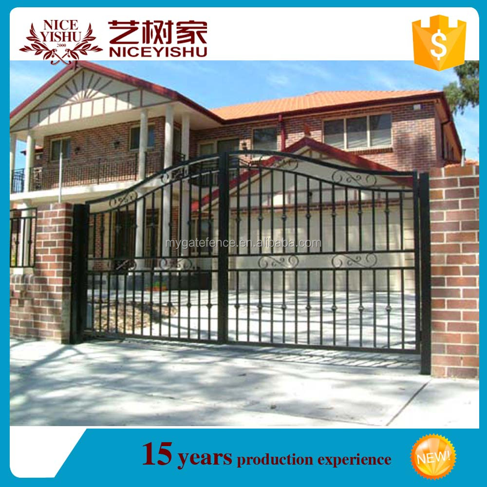 Yishujia factory high quality design ideas for iron gate/ yard gates /fence gate