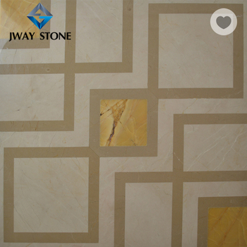 Brass Waterjet Mosaic White Black Marble And Metal Mixed Tile Buy