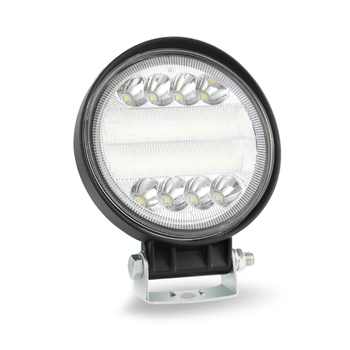 Factory hot sell new design 72w round sharp LED work light with white aperture work lamp portable light